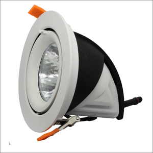 30W Recessed COB LED Downlight High Power dimmable Gimbal Downlights