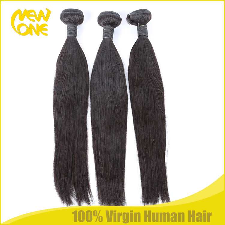 Wholesale human hair extension Indian remy weave straight hair