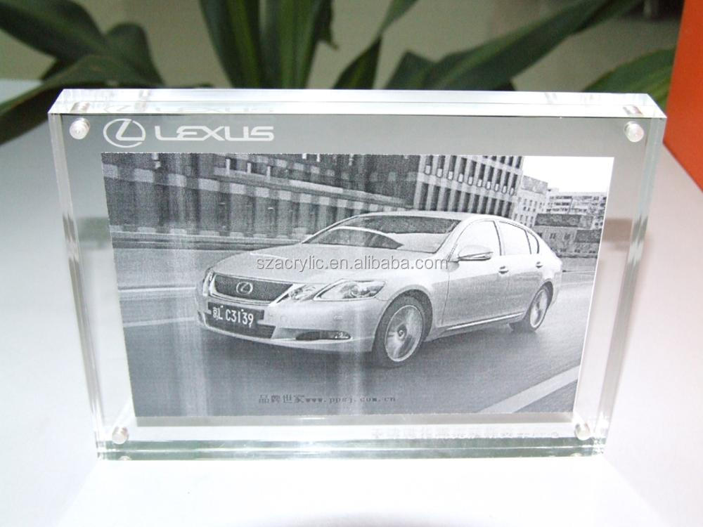 car store, 4s shop good quality acrylic photo frame for car buyer