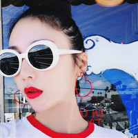 NIRVANA Kurt Cobain Sunglasses Brand Designer Women Oval SunGlasses Classic Harajuku Alien Men Vintage Retro Female Male Eyewear