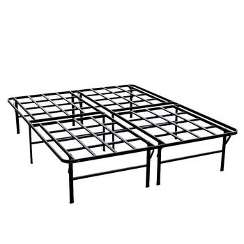 Steel Folding Platform Bed Base Mattress Foundation Metal Bed Frame ...