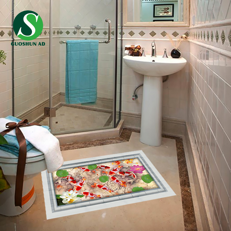 3d non slip shower floor decals graphics designs x art for 3d bathroom drawing