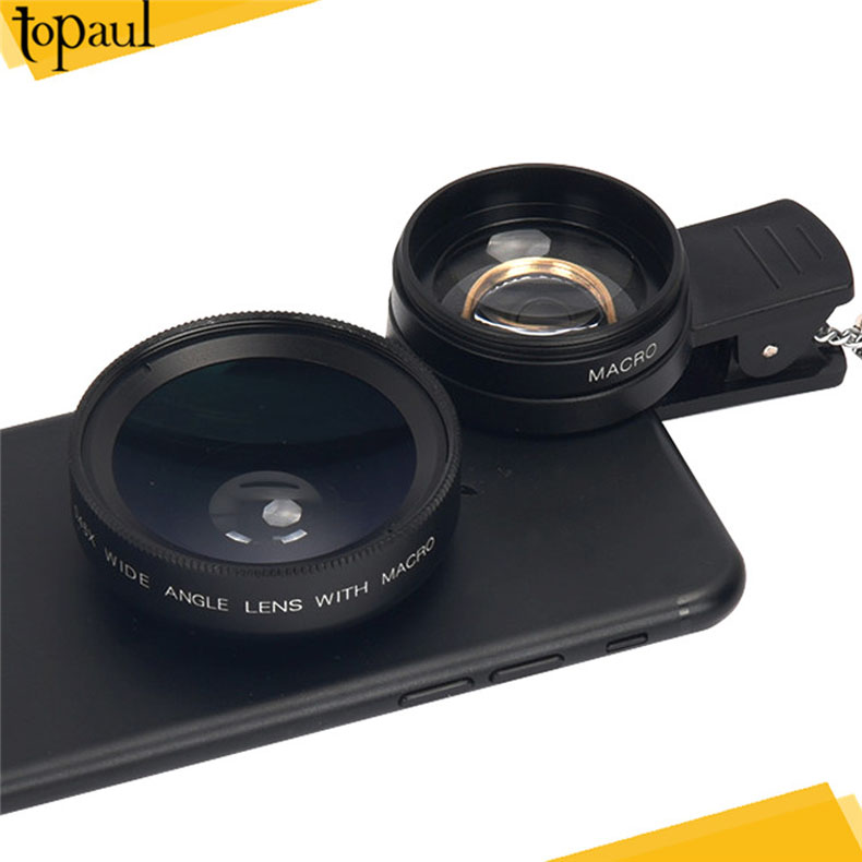 Best price new arrival clip on mini <strong>bluetooth</strong> 2 in 1 wide angle macro camera lens for nikon lens