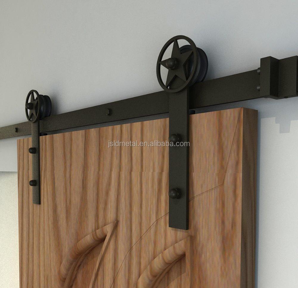 Sistem untuk kayu pintu geser gudang minyak coklat 1 3 4 for Rail porte garage coulissante