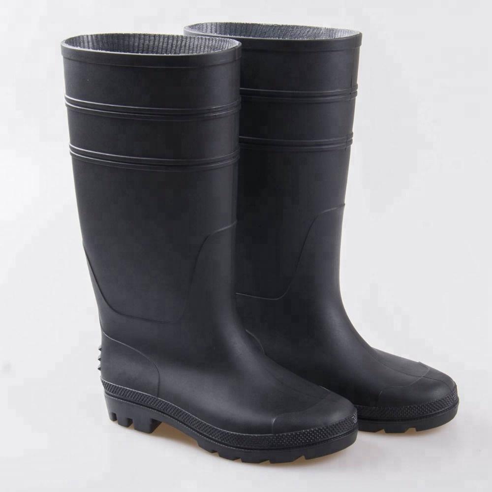 Men's Shoes Mens Fashion Tube Rain Boots Men Pvc Camouflage Wear Non-slip Rain Boots Mens Work Labor Insurance Shoes High Boots Wide Varieties