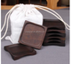 Imported ebony wood cup holder coasters