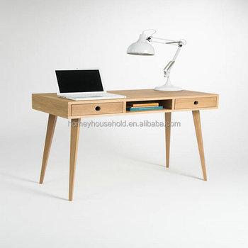Elegant Scandinavian Furniture Wooden Computer Desk Writing Study Table