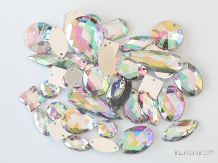Professional factory point back glass sew on claw rhinestones for garment