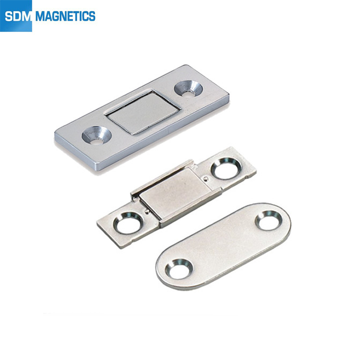 Strong Stainless Steel Rectangular Screw Ultra Thin Magnetic Catch