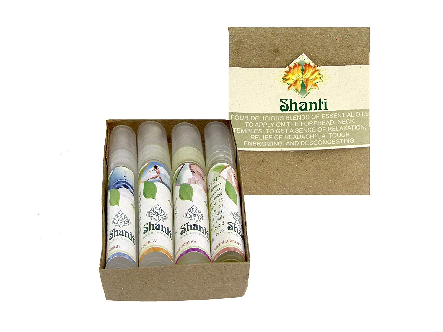 Essential Oil Blends Kit (Set Of 4): Pocket Size For Travel Aromatherapy, Made With Natural Organic Essential Oils -For Relaxation, Calming, Anxiety And Headache Relief