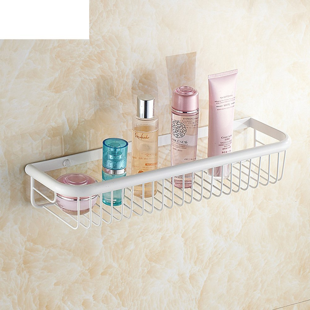 Copper bathroom racks/Wall/Bathroom accessories/White rectangular storage baskets/The corner-B