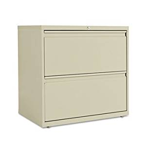 Two-Drawer Lateral File Cabinet, 30w x 19-1/4d x 29h, Putty