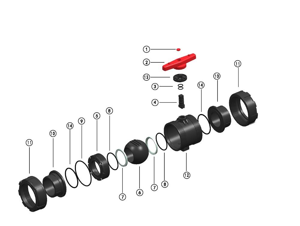 true union pvc ball valve