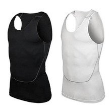 Men Quick Dry Solid Cool Shirt Wicking Gym Run Sports Tank Top Vest Summer S-2XL For Free Shipping
