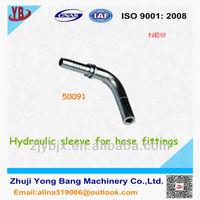 Hydraulic sleeve for hose fittings