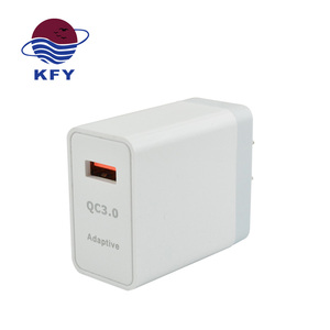 Durable QC 3.0 single usb cellular charger super fast mobile phone travel wall charger