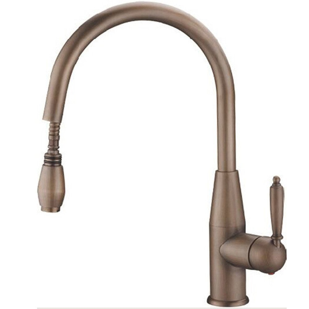 FHLYCF European style retro all copper pull type hot and cold kitchen kitchen pot faucet