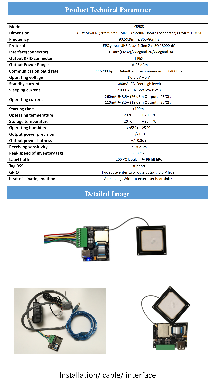 Mini Embeddable Rs232 Usb Ttl Uart Uhf Rfid Reader Module Wiegand + Small  Uhf Rfid Ceramic Antenna - Buy Uhf Rfid Reader Module,Usb Rfid Reader