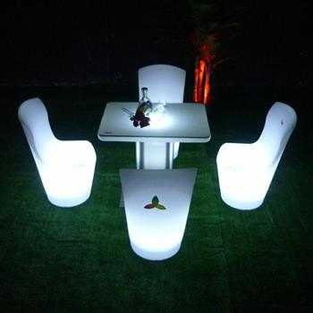 Square Small LED glow furniture