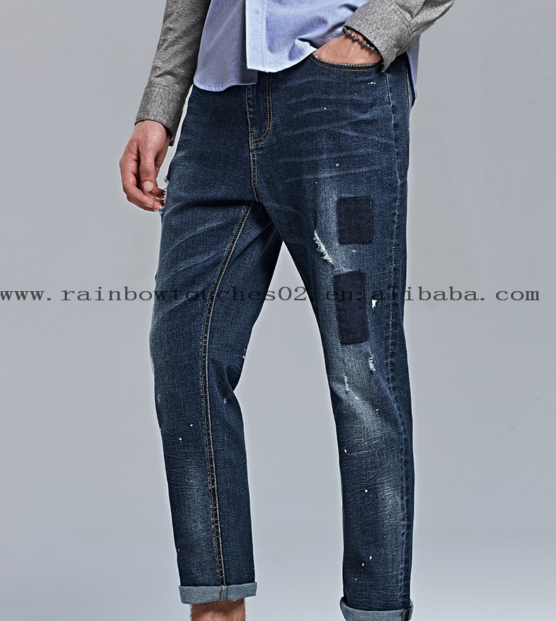 New Look mens Skinny washed rips guangzhou jeans markets
