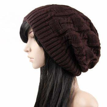 women knitted beanie beard beanie bluetooth Fashion Women Winter Warm Knit  Thick Ponytail Beanies Messy Bun 42f93c41f
