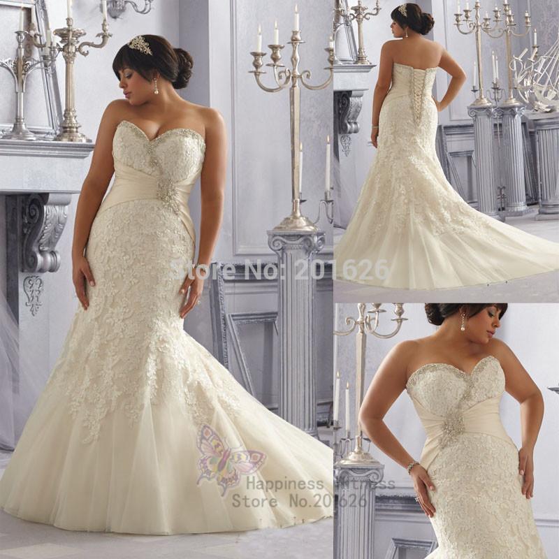 Crystal Plus Size Wedding Dresses Unique Beading