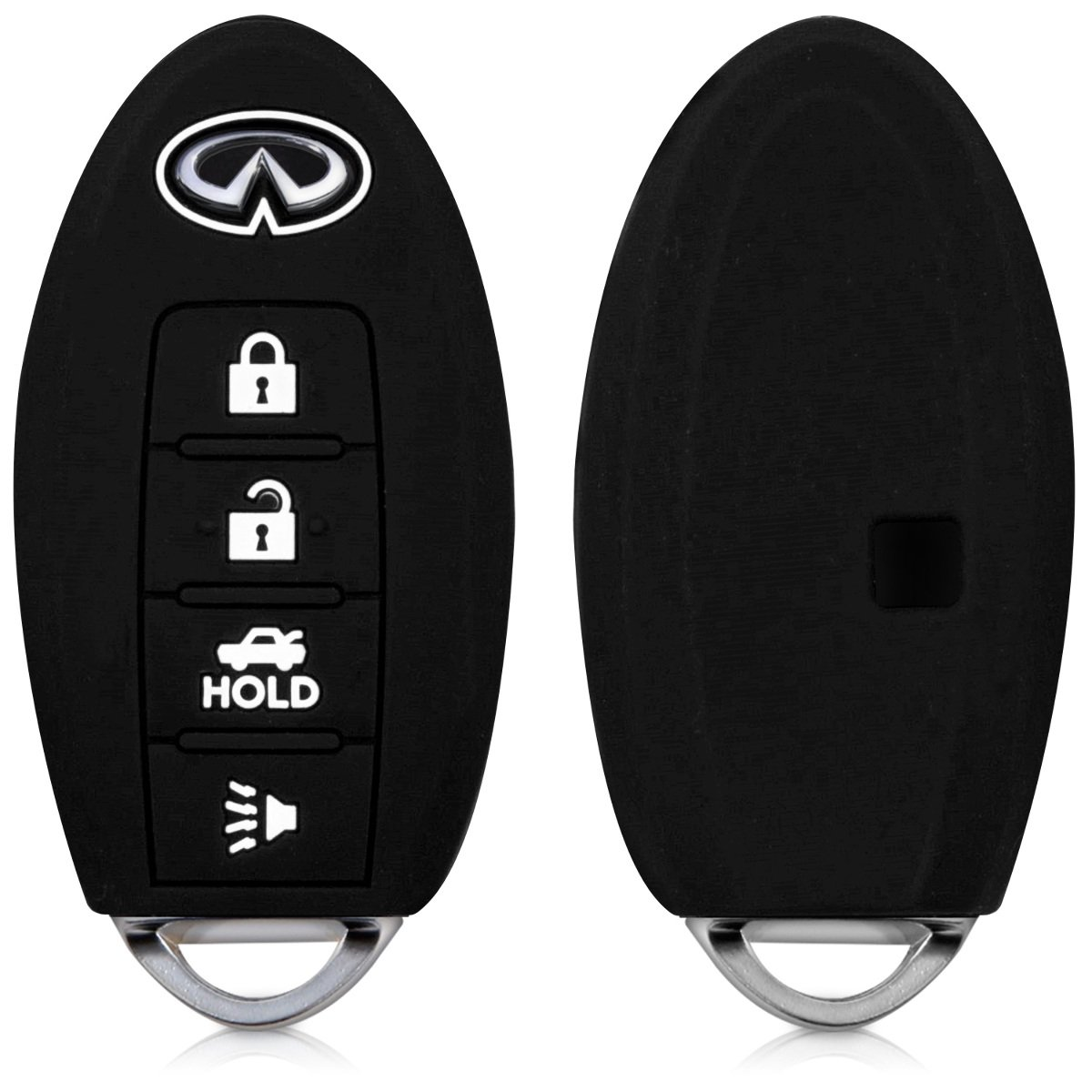 kwmobile Infiniti Car Key Cover - Silicone Protective Key Fob Cover for Infiniti 4 Button Remote Control Car Key - Black