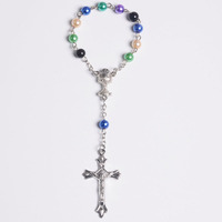 Religious Gifts Catholic Communion Chalice Center Crucifix Prayer Bead Rosary Bracelet Wholesale