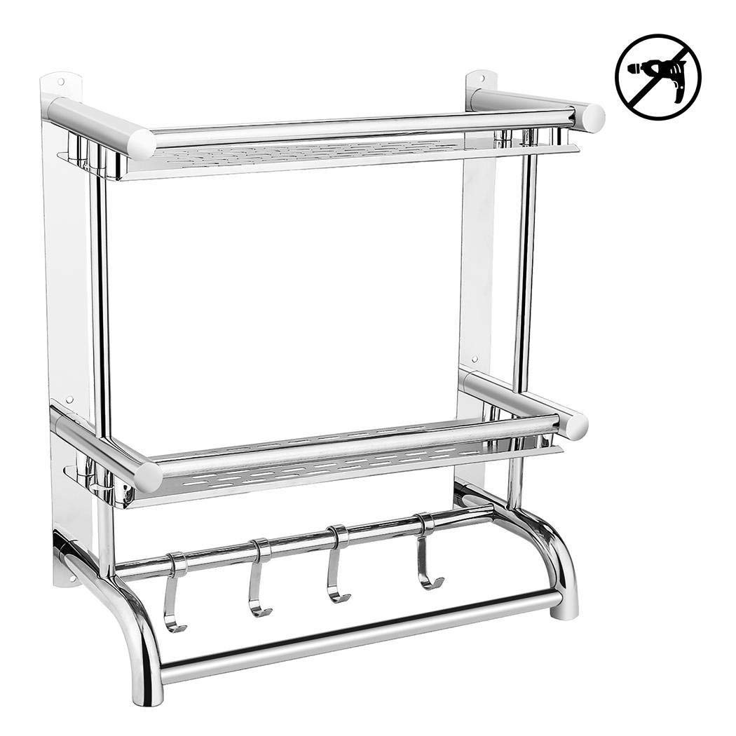 Iekofo 3-Tier Towel Rack, Stainless Steel Bathroom Towel Holder Organization for Storage Hanging Holder in Kitchen Bathroom
