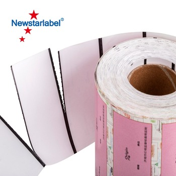Printed Thermal adhesive paper label at customer size