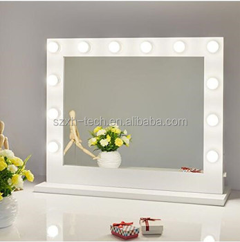 2017 Ilumay White Hollywood Mirror With 12 Led Bulbs Makeup
