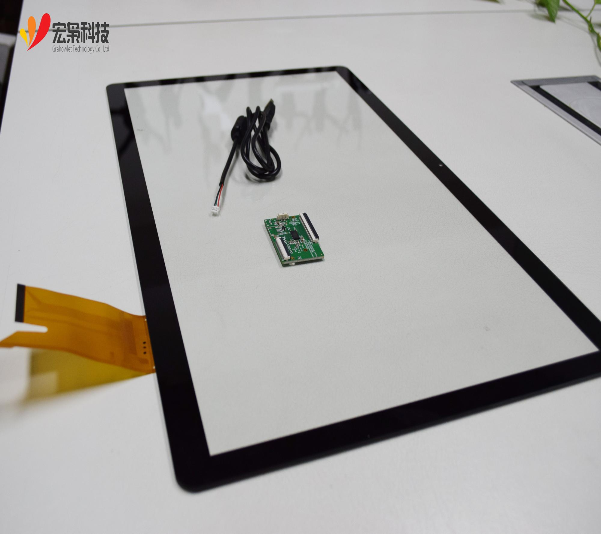 15.6, 17.3, 18.5, 19, 21.5, 23.6, 23.8, 27,32, 42, 43,49, 55 inch Multitouch Capacitieve Grote Touch Screen Panel