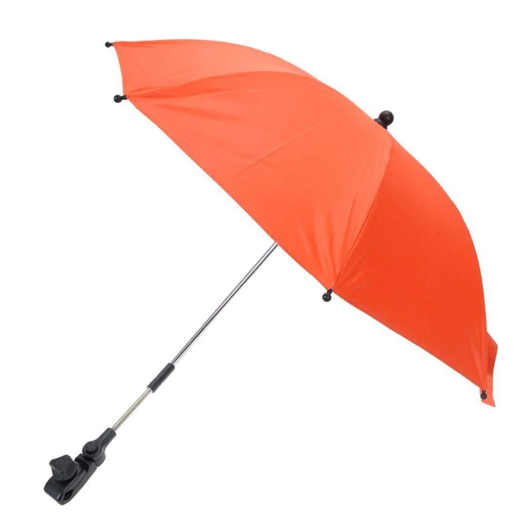 SUKEQ Baby Stroller Umbrella, Pushchair Baby Stroller Umbrella Pram Parasol Sum Protection UV Rays Rain Sun Shade Canopy