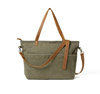Waxed Canvas with Leather Women Tote Bag Shoulder Bag Handbag 14022