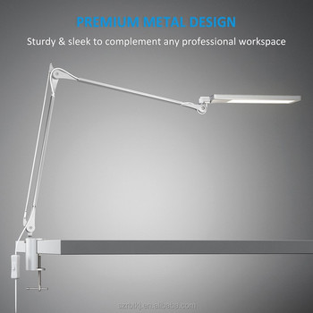 Swing Arm Desk Lamp Long Metal Architect Led Task Light With Clamp Adjule Folding Twin