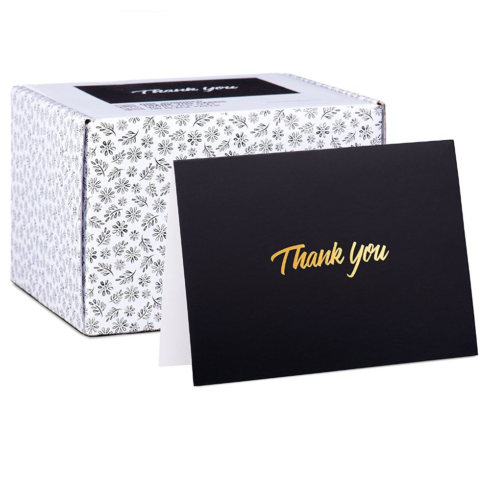100 Bulk Pack wholesale personalized gold stamped thank you <strong>card</strong> for wedding or birthday