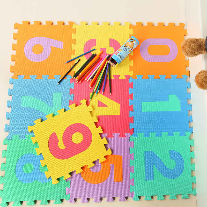 30 X30X1cm 9 piecs Digital high end environmentally friendly mat game pad children baby jigsaw puzzle