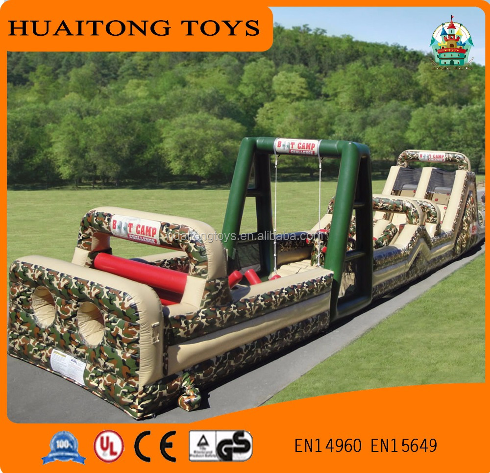 2016 outdoor games inflatable obstacle course inflatable army track obstacle for kids or adults