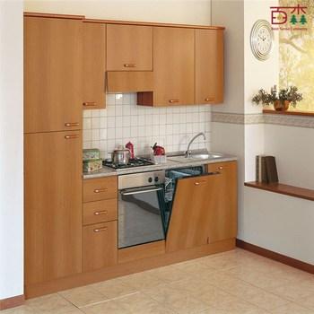 Laminado Luz Roble Gabinete De Cocinacolor De Madera Del Gabinete - Cocinas-color-roble