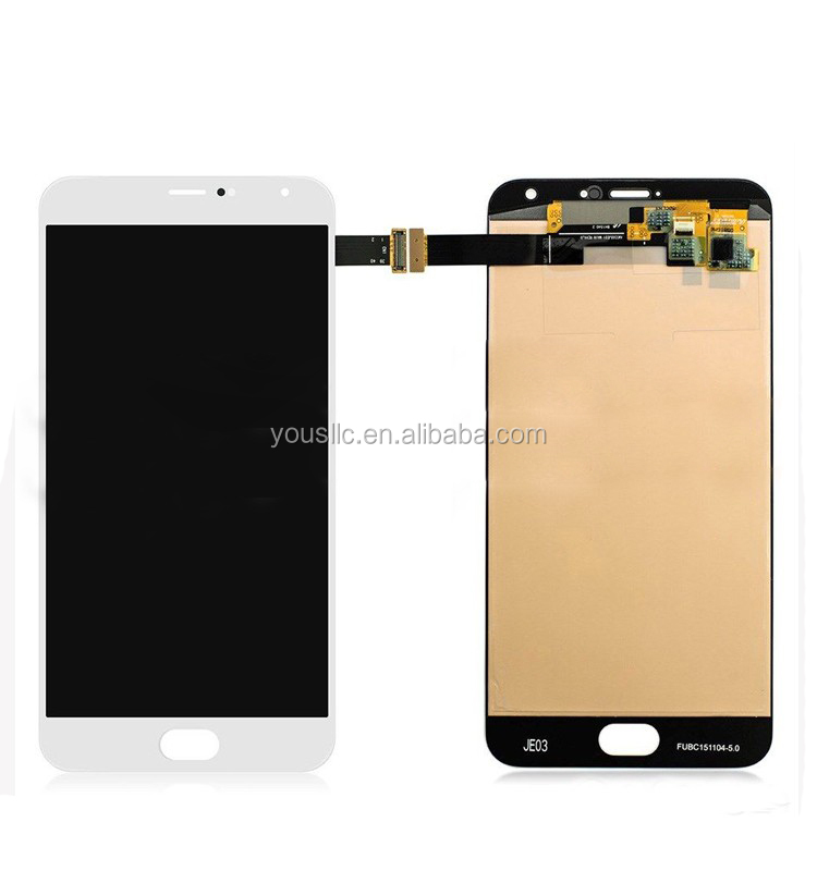 Replacement Original Mobile Phone Parts Full LCD Complete LCD Touch Screen Digitizer Assembly For Meizu MX5 Pro M576