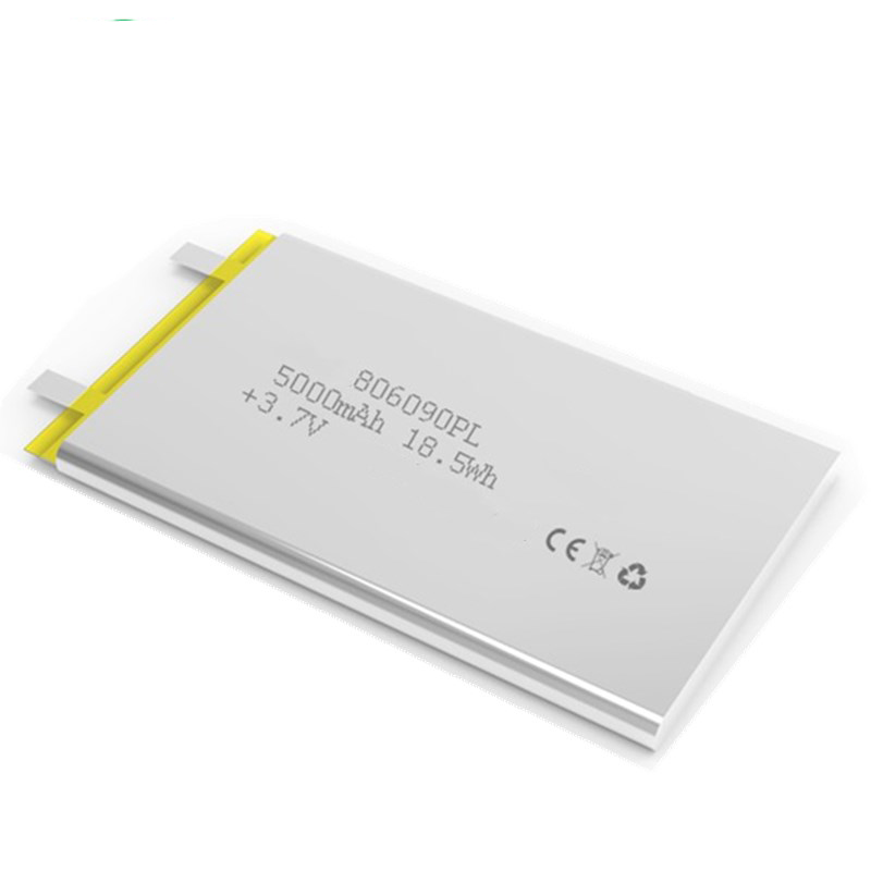 Rechargeable li-polymer battery 806090 3.7V li-ion polymer battery 5000mah for power bank