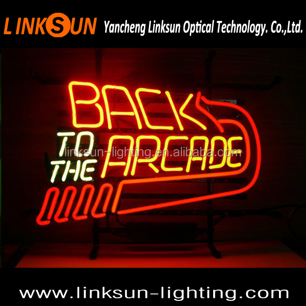 Back to the Arcade Glass Tubes letters Neon Sign