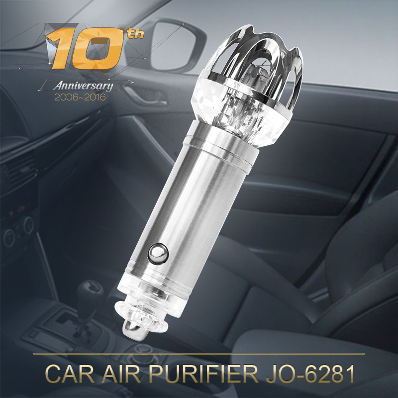 2016 New Invention Small Air Purifier Car Air Cleaner JO-6281with 4800000pcs/cm3 Negative Ions