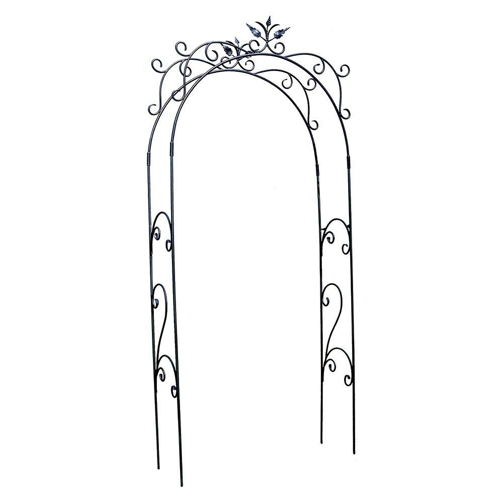 Achla Designs ARB-01 Tuileries Arbor Garden Arch, Graphite