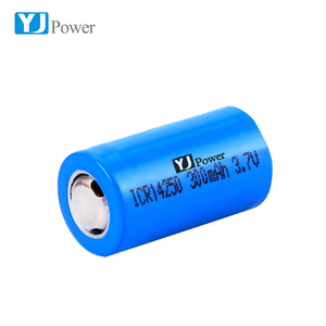 Durable high discharge current 3.7v 14250 300mah lithium ion batteries for optical line instruments