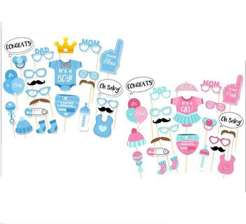 It Is A Boygirl Baby Shower Photo Booth Props Newborn Boy