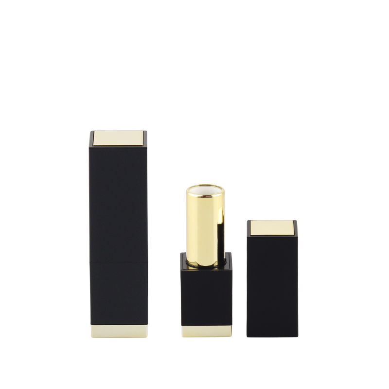 Luxury gold marble empty magnetic metal lipstick tube