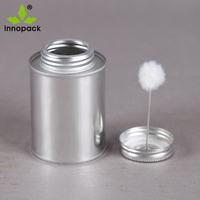 473L/16oz metal tin cans sale with brush empty paint adhesive glue can