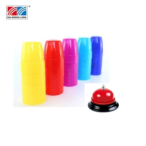 Colorful stacking cups board game set speed cups game board toy for sale