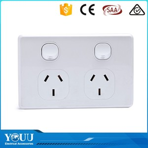YOUU Local Products Electric Power On Off Double Wall Switch With 2 Pole Socket